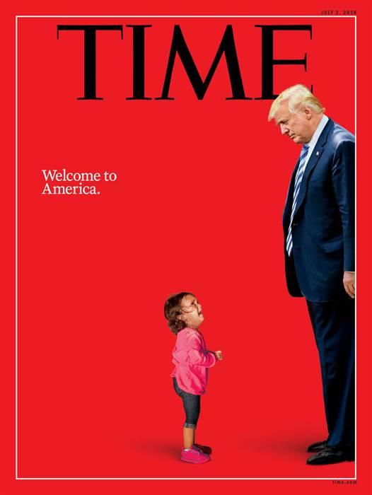 Child and Trump on Time Magazine